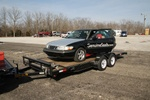 The irony of the GM towing the GM saab home..