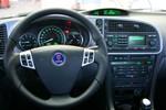 Custom steering wheel.